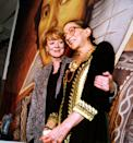 "<p>Ginsburg and Dame Maggie Smith were pictured together at a gala opening night dinner for the Washington Opera. </p><p>Ginsburg was a huge opera fan and some of her <a href=""https://www.newyorker.com/culture/culture-desk/my-favorite-records-ruth-bader-ginsburg"" rel=""nofollow noopener"" target=""_blank"" data-ylk=""slk:favorite operas and recordings"" class=""link rapid-noclick-resp"">favorite operas and recordings</a> include Mozart's ""Don Giovanni"" and Verdi's ""Aida.""</p>"