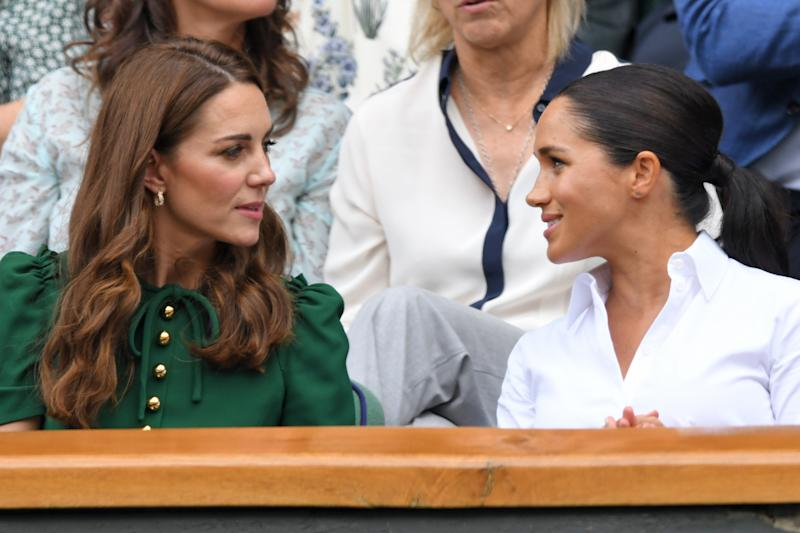 The pair are sitting side by side in the Royal Box. [Photo: Getty]