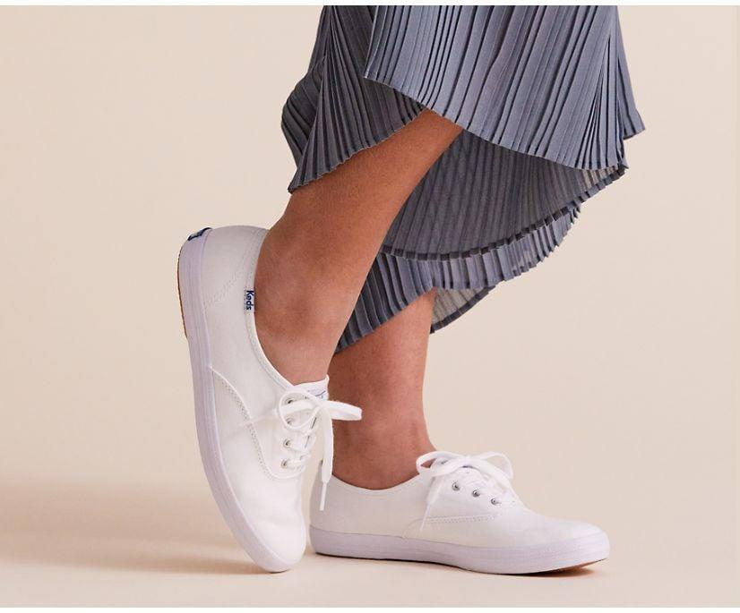 <p>You can feel good about purchasing the <span>Keds Champion Feat. Organic Cotton</span> ($50), because it's made from an eco-friendly material that's durable and longer lasting. The Keds Champion sneaker is a staple that will work with everything else in your closet.</p>