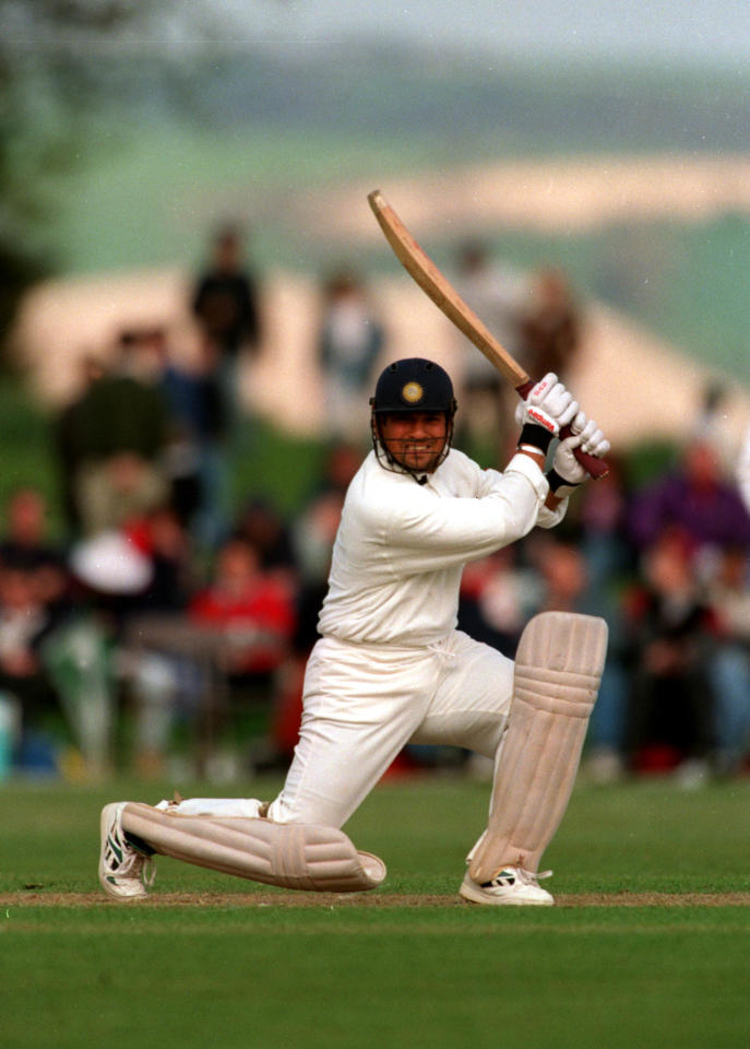 5 May 1996 : Sachin Tendulkar of India playing a Duchess of Norfolk XI at Arundel. Mandatory Credit: Adrian Murrell/ALLSPORT