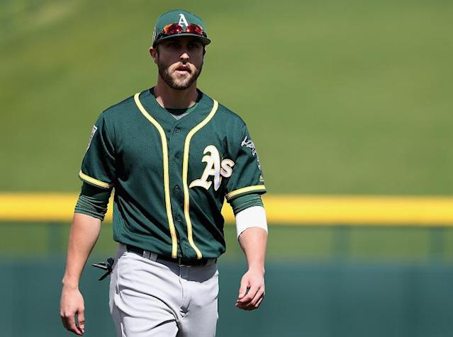 A's outfielder Dustin Fowler completed his journey back from a gruesome knee injury that threatened to make him the next Moonlight Graham. (AP)