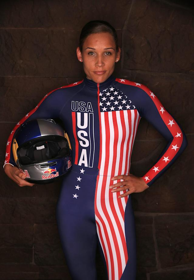 PARK CITY, UT - SEPTEMBER 29: Bobsledder Lolo Jones poses for a portrait during the USOC Media Summit ahead of the Sochi 2014 Winter Olympics on September 29, 2013 in Park City, Utah. (Photo by Doug Pensinger/Getty Images)