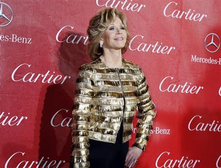 Actress Jane Fonda arrives at the 2014 Palm Springs International Film Festival Awards Gala in Palm Springs