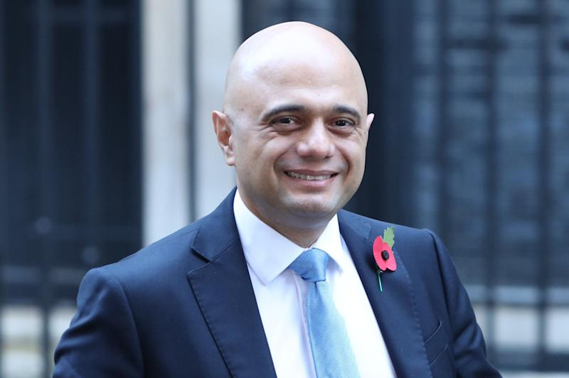 Chancellor of the exchequer Sajid Javid leaving 11 Downing Street in Westminster, London. (Photo: PA Wire/PA Images)