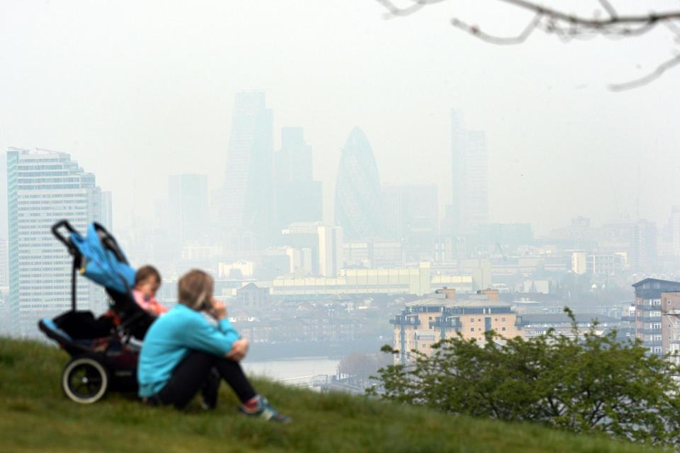 Toxic: More than eight million children live in areas of the UK with illegal levels of air pollution (PA)