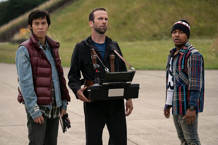 """From left: Earl (Jason Tobin), Sean (Lucas Black), and Twinkie (Shad """"Bow Wow"""" Moss) in """"F9."""""""