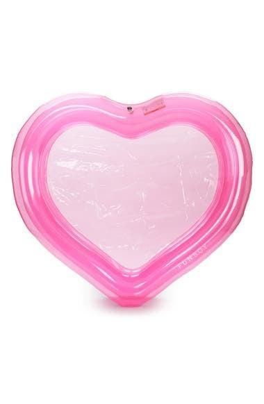 <p>The <span>Funboy Pink Heart Splash Pool</span> ($99) is a fun way for the family to cool off in the summer. Even pets can join in on the fun!</p>