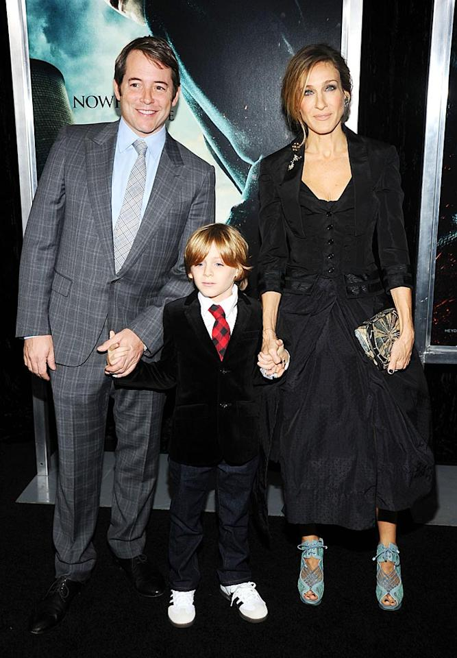 """James Wilkie Broderick was the luckiest boy in the world when his parents, Matthew Broderick and Sarah Jessica Parker, took him to the New York premiere of """"Harry Potter and the Deathly Hallows: Part 1."""" The 8-year-old got to meet one of his heroes -- Harry Potter himself, Daniel Radcliffe. Jamie McCarthy/<a href=""""http://www.wireimage.com"""" target=""""new"""">WireImage.com</a> - November 15, 2010"""