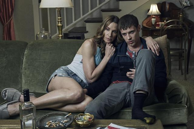 "Kelly Lynch and Harry Treadaway in ""Mr. Mercedes."" (Photo: Audience)"