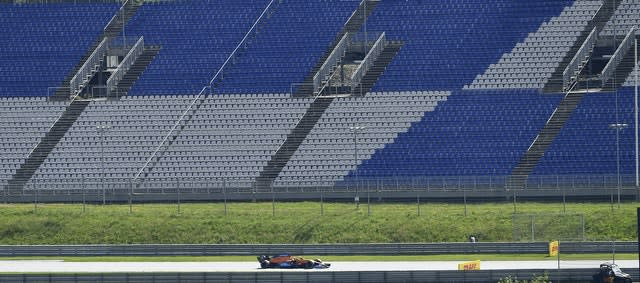 The Austrian Grand Prix took place in front of empty stands