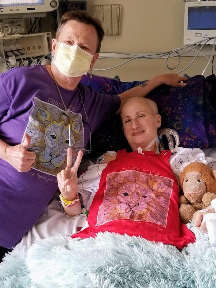 Being in the hospital for a heart transplant felt overwhelming for Kara DuBois. That's when she started sharing videos of her experience on social media asking friends and family for help. The response bolstered her strength. (Courtesy Kara DuBois)