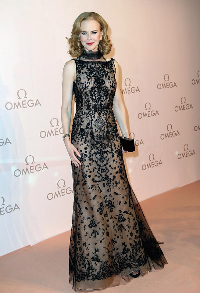 We don't mind that her forehead is forever frozen; we're forever in love with Nicole Kidman and her impeccable sense of style. Channeling Old Hollywood, the Oscar winner oozed glamor in this enchanting Oscar de la Renta gown at a recent Omega gala in Vienna, Austria. (3/23/2013)