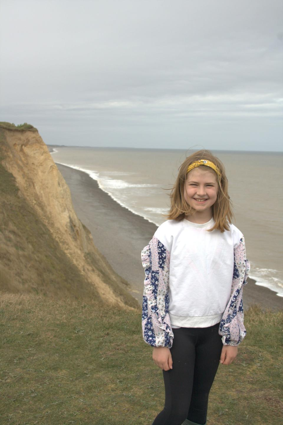 Nine-year-old Sylvie from Langham Village School in north Norfolk suggested the winning name Parpal Dumplin. (Marine Conservation Society/ PA)