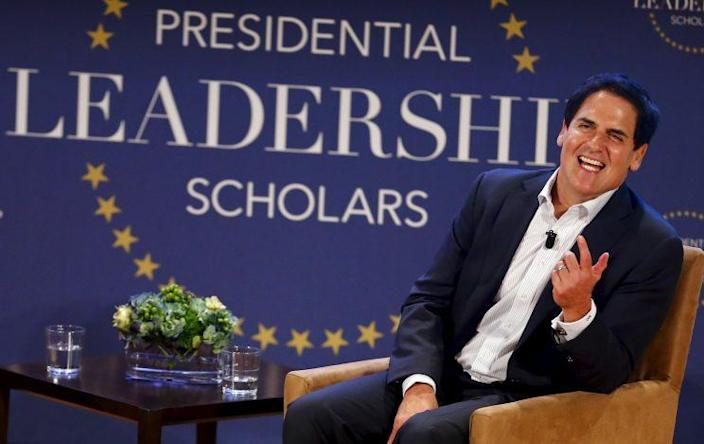 Mark Cuban speaks during a moderated conversation at the graduation of the inaugural class of the Presidential Leadership Scholars program. (Photo: Mike Stone/Reuters)