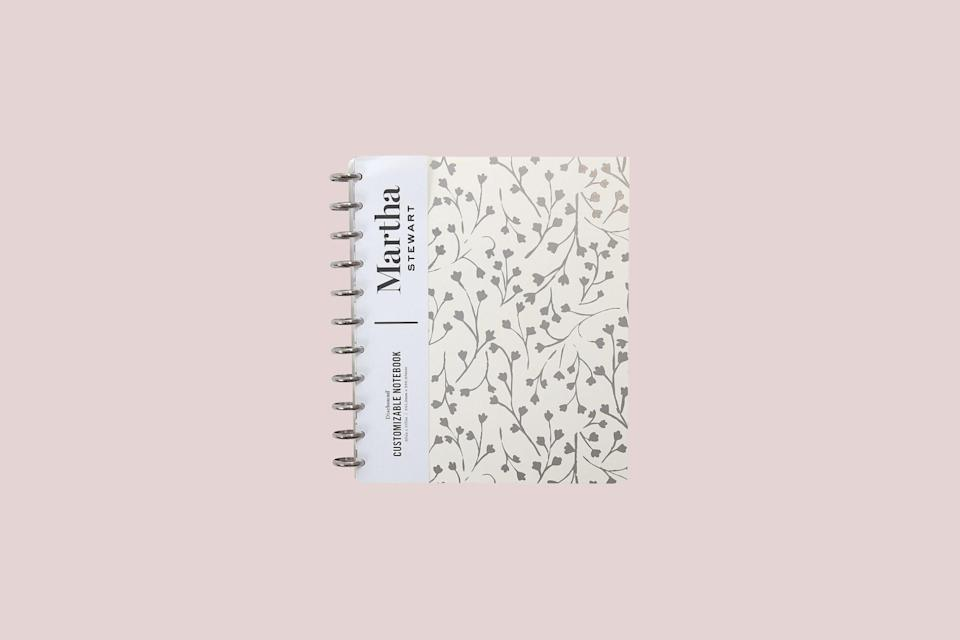 """<p>A muted floral design sits pretty atop this hardcover disc-bound planner. It features a functional storage pocket and 120 pages.</p> <p><strong><em>Shop Now:</em></strong><em> Martha Stewart """"Cream Vine"""" Polly Letter Discbound Notebook, $14.99, <a href=""""http://www.anrdoezrs.net/links/7799179/type/dlg/sid/MSL15PlannersThatArePerfectfortheStartofaNewSchoolYearrhaarsOrgGal7848743202008I/https://www.staples.com/martha-stewart-cream-vine-poly-letter-discbound-notebook-letter-sized-ms102l/product_24342851"""" rel=""""nofollow noopener"""" target=""""_blank"""" data-ylk=""""slk:staples.com"""" class=""""link rapid-noclick-resp"""">staples.com</a>.</em></p>"""
