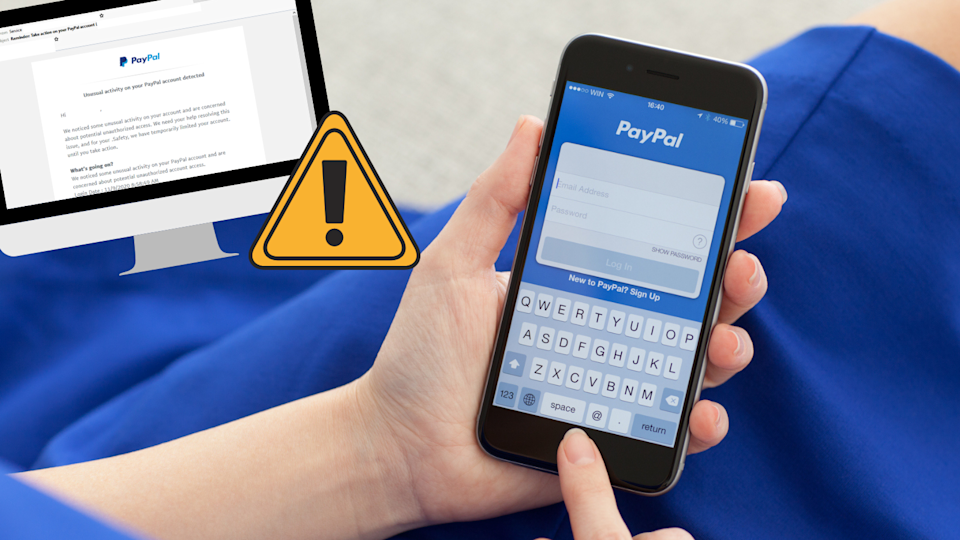 A new Paypal scam is doing the rounds. (Source: Mailguard, Getty)