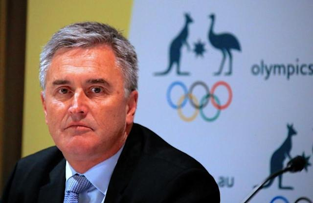 Ian Chesterman, Australia's chef de mission for the 2020 Tokyo Olympic Games, listens to a question during a media conference in Sydney, Australia