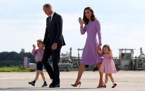 the Duke of Cambridge, his wife Princess Catherine, the Duchess of Cambridge - Credit: Christian Charisius/REUTERS