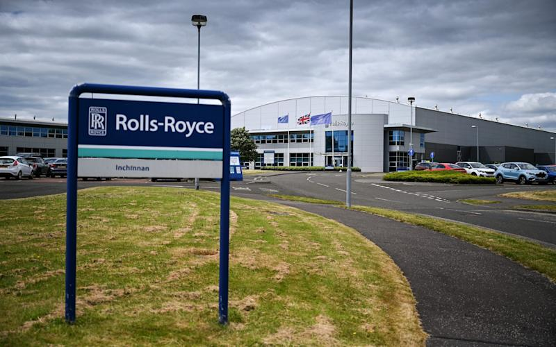 A view of the Rolls Royce factory in Inchinan, Scotland - Jeff J Mitchell/Getty Images Europe