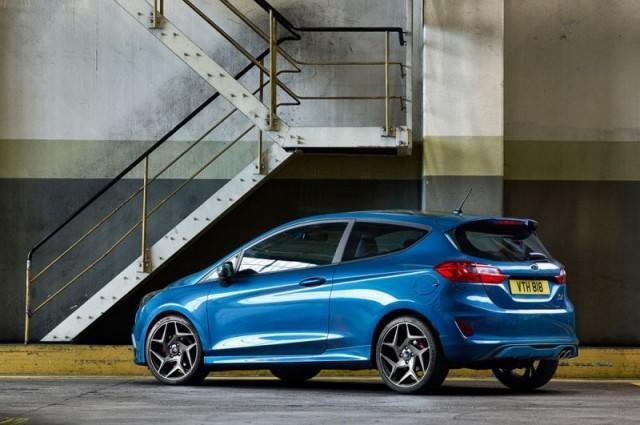 Blue 2018 Ford Fiesta ST back view