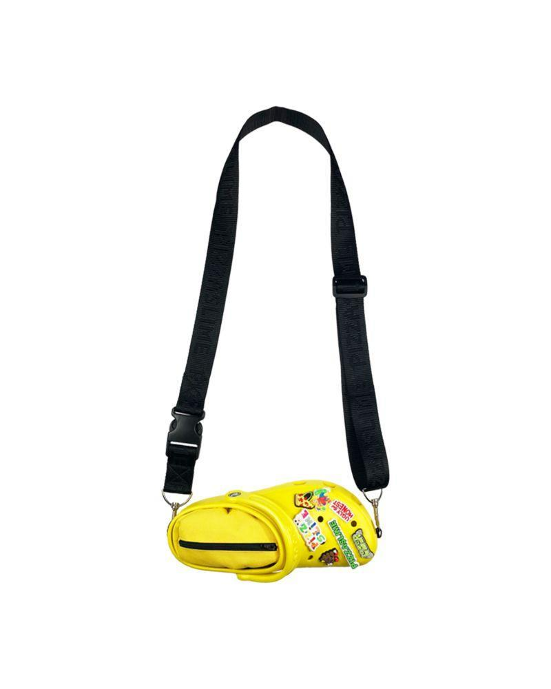<p>Who said clog-shoes were just for feet? In 2019, Pizzaslime teamed up with Crocs to produce two crossbody bags. </p>