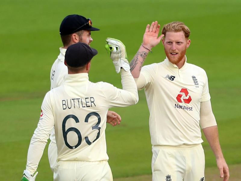 Ben Stokes defied medical advice to help England back into the game: POOL/AFP via Getty Images