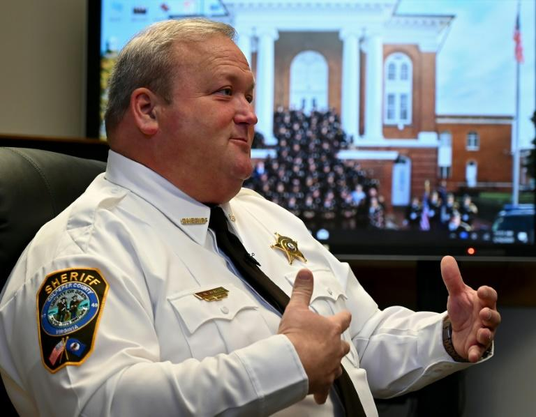 Culpeper County Sheriff Scott Jenkins has become a key figure in a pro-Second Amendment protest movement defending what they consider their right to bear arms (AFP Photo/EVA HAMBACH)