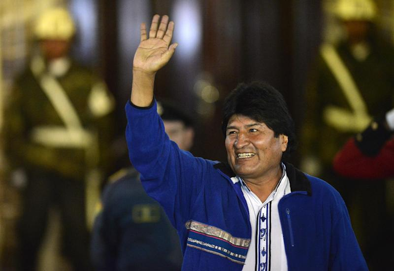 President Evo Morales swept to a third term with 61 percent of the vote, electoral officials said in confirming the result