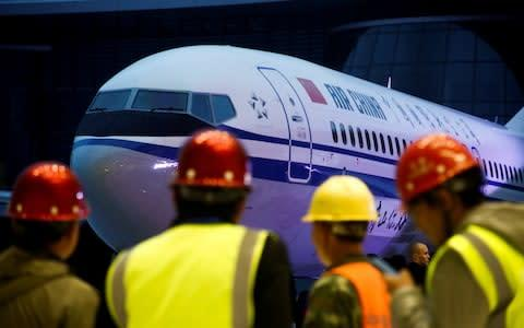 <span>Ceremony marking 1st delivery of Boeing 737 Max 8 airplane to Air China in Zhoushan</span> <span>Credit: Reuters </span>