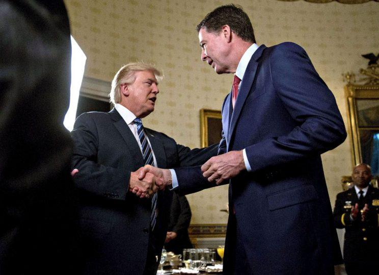 Not happy: Comey had hoped a simple handshake would be sufficient (Rex)