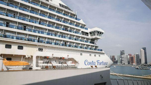 PHOTO: The cruise ship Costa Fortuna is docked at the Marina Bay Cruise Centre in Singapore, March 10, 2020. (Wallace Woon/EPA via Shutterstock)