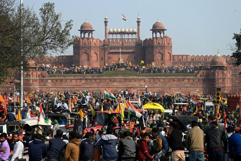 The demonstration at the Red Fort marked the culmination of a larger two-month protest to overturn laws deregulating the farming sector