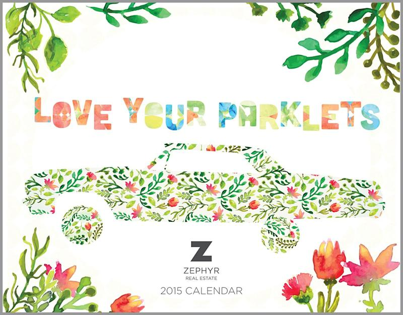 Zephyr Real Estate Features Local Parklets in Annual San Francisco Calendar