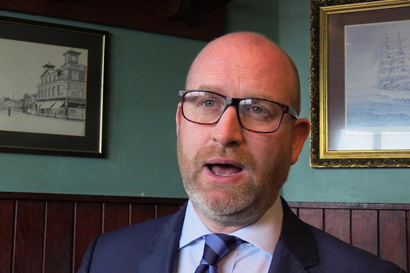 Ukip leader Paul Nuttall speaks to the media in Hartlepool after he announced that he will be standing in Boston and Skegness in the General Election: PA