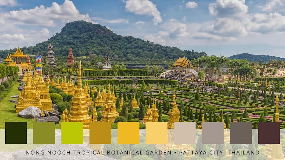 """<p>Stretching over 500 acres, this beautiful garden in Thailand will take your breath away. Rich gold and lush green are the main colour palettes, creating a truly spectacular display. </p><p><strong>READ MORE</strong>: <a href=""""https://www.countryliving.com/uk/homes-interiors/gardens/a36327596/save-money-utility-bills-garden/"""" rel=""""nofollow noopener"""" target=""""_blank"""" data-ylk=""""slk:8 ways your garden can help you save money on utility bills"""" class=""""link rapid-noclick-resp"""">8 ways your garden can help you save money on utility bills</a></p>"""