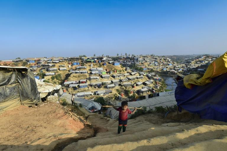 Bangladesh hosts nearly a million Rohingya in camps along the border with Myanmar