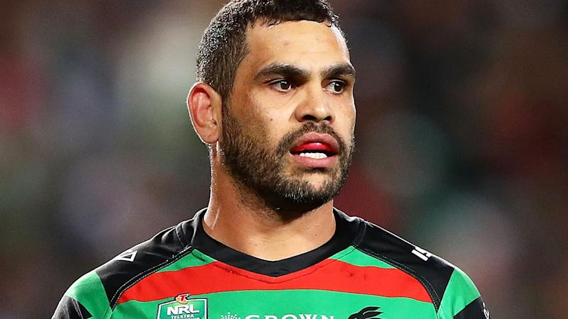 Greg Inglis, pictured here in action for the South Sydney Rabbitohs in 2018.