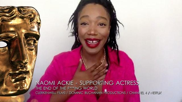 Supporting actress winner Naomi Ackie