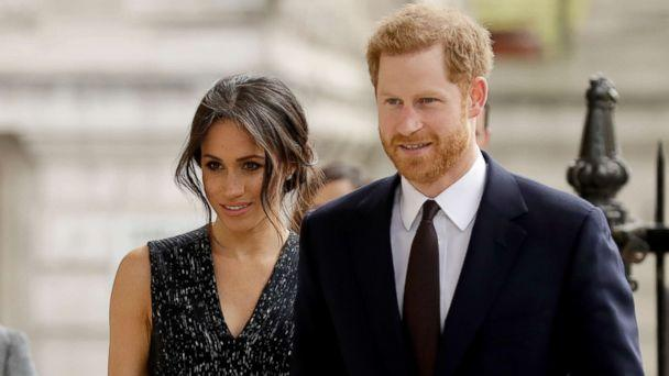 PHOTO: Prince Harry and his fiancee Meghan Markle arrive to attend a memorial service to commemorate the 25th anniversary of the murder of black teenager Stephen Lawrence at St Martin-in-the-Fields church in London, April 23, 2018. (Matt Dunham/AP)