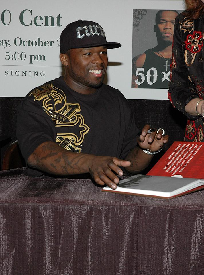 "50 Cent doesn't spend all his days and nights ""In Da Club""! The rapper born Curtis Jackson, 38, recently logged time at a desk, penning a 2011 novel inspired by his childhood called ""Playground."" In the introduction, Jackson admits to having been a bully as a child, much like his main character, 13-year-old Butterball. ""I know how a person gets to be like that,"" he wrote. ""That's why I wanted to tell this story: to show a kid who has become a bully — how and why that happened, and whether or not he can move past it."" Surprisingly, he isn't the first rapper to try his hand at writing something other than lyrics: works by LL Cool J, Common, Will Smith, and Doug E. Fresh can also be found in the children's section of the library. Credit: Steven Henry/Getty Images"