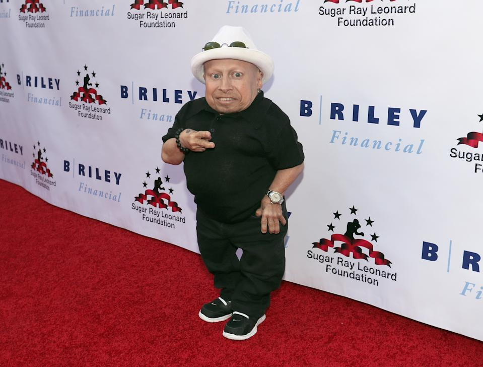 "Verne Troyer attends the ""Big Fighters, Big Cause"" charity boxing night on May 25, 2016. (Photo by Mark Davis/Getty Images for Sugar Ray Leonard Foundation)"