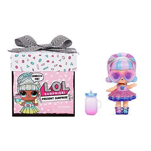 """<p><strong>L.O.L. Surprise!</strong></p><p>amazon.com</p><p><strong>$14.19</strong></p><p><a href=""""https://www.amazon.com/gp/product/B085B23C3X/?tag=syn-yahoo-20&ascsubtag=%5Bartid%7C10055.g.29389667%5Bsrc%7Cyahoo-us"""" rel=""""nofollow noopener"""" target=""""_blank"""" data-ylk=""""slk:Shop Now"""" class=""""link rapid-noclick-resp"""">Shop Now</a></p><p>If you're looking for just a little something, this L.O.L. comes in a pretty present package. <strong>There are eight surprises to unwrap,</strong> and each one is themed after a different month of the year. <em>Ages 4+</em></p>"""