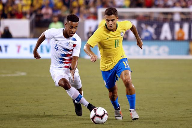 The U.S. men's national team was outclassed, but not embarrassed, by Brazil in a 2-0 friendly loss. (Getty)