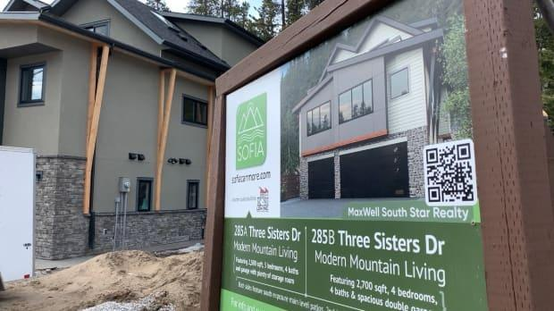 Infill housing in some older neighbourhoods in Canmore, Alta., is increasing density. Two single family homes are being replaced by three duplexes that are expected to sell for $1.2 million to $1.4 million each.
