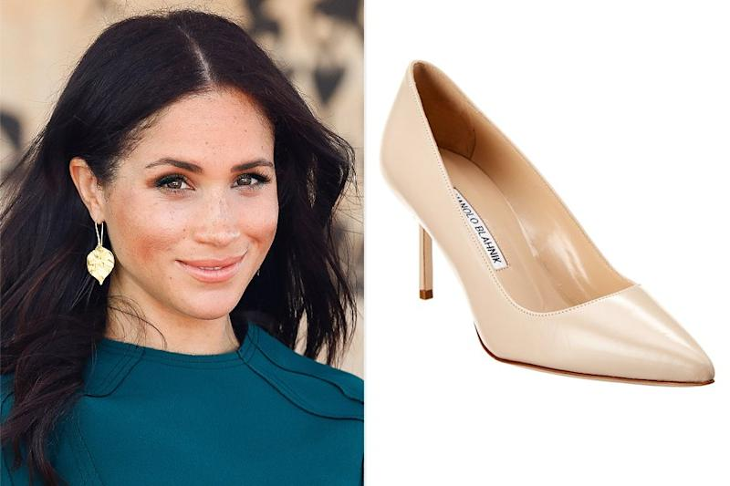 Meghan Markle's Beloved Manolo Blahnik Shoes Are Majorly Discounted at This Secret Sale — Here's How to Shop It