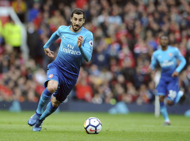 Foot injury sidelines Arsenal's Mkhitaryan for six weeks