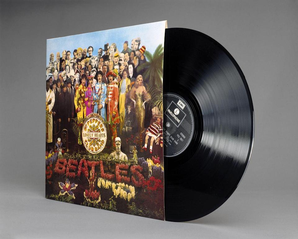 """<p>If you've hung onto this popular 1967 record from The Beatles, you could be in luck. The resale value of the album on vinyl can go for up to $290,500—although most sell for a couple hundred dollars.</p><p><strong>What it's worth: </strong><a href=""""https://thevinylfactory.com/news/beatles-sgt-pepper-album-sells-for-290500/"""" rel=""""nofollow noopener"""" target=""""_blank"""" data-ylk=""""slk:Up to $290,500"""" class=""""link rapid-noclick-resp"""">Up to $290,500</a></p>"""