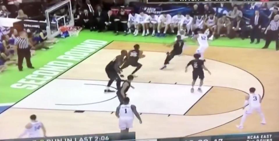 UCF's defense in the second half against Duke. (Twitter)