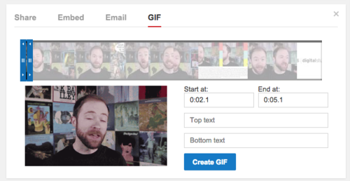 YouTube Create GIF button