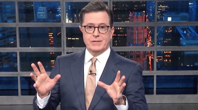 Stephen Colbert Finally Found The One Thing Trump Won't Put His Name On